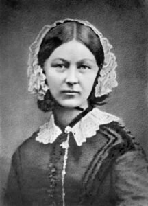 Florence Nightingale - photograph by Henry Hering c. 1860 (Public Domain)